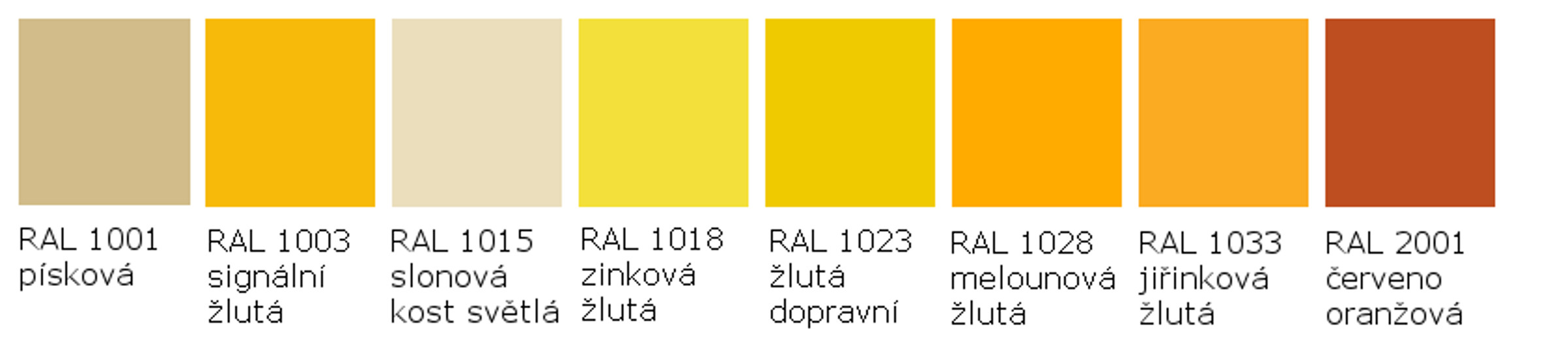 RAL 1001 - RAL 2001