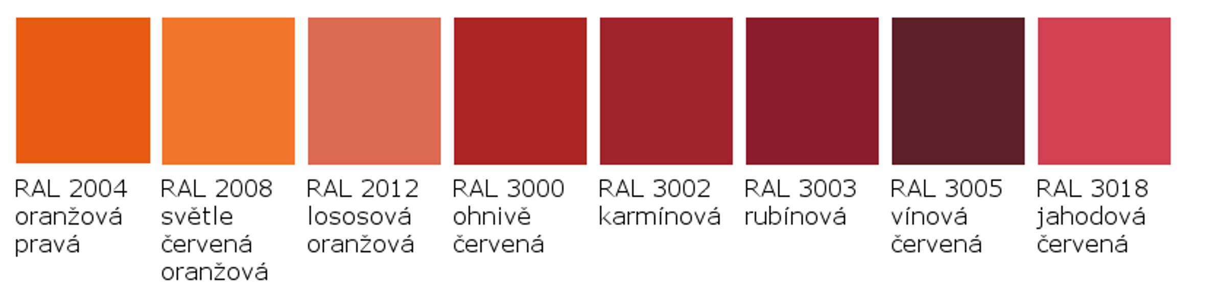 RAL 2004 - RAL 3018