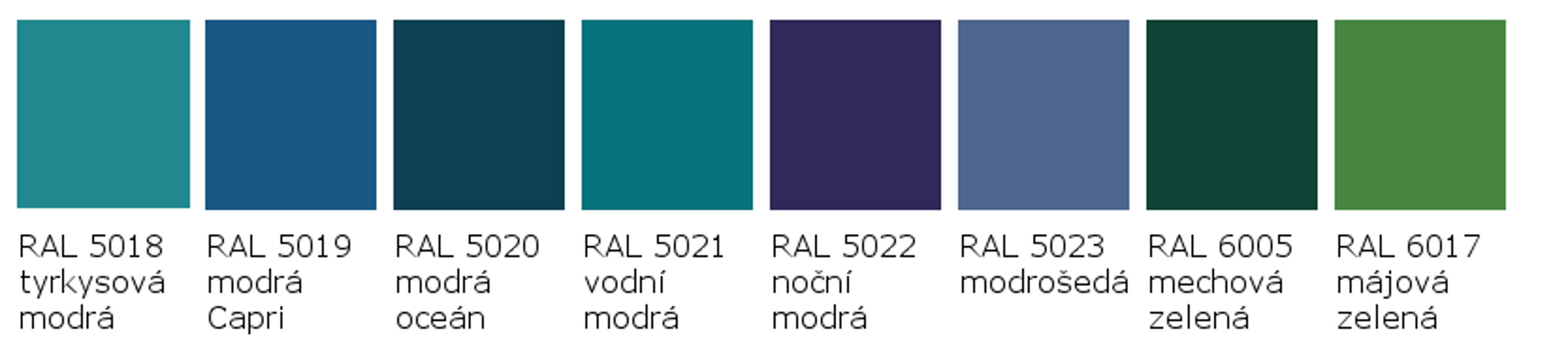 RAL 5018 - RAL 6017