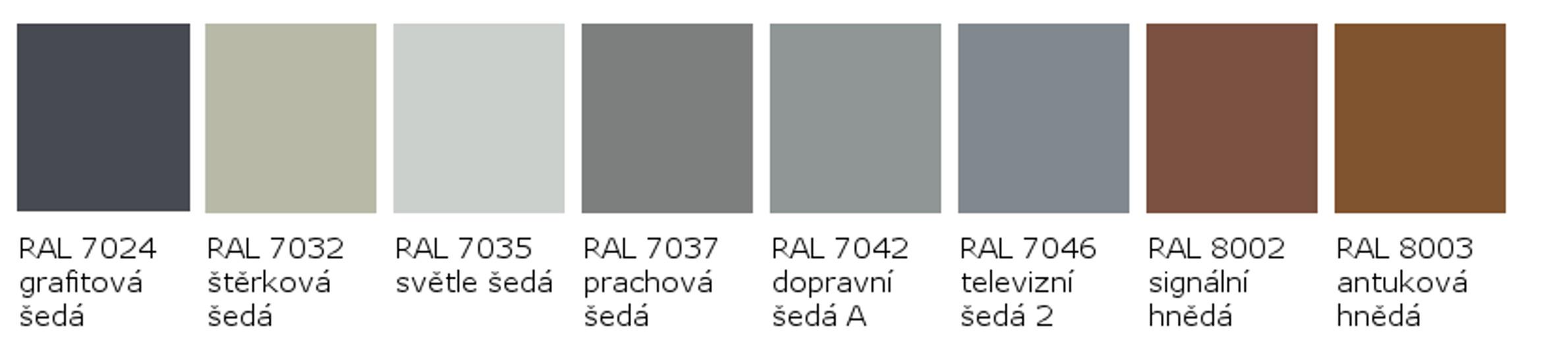 RAL 7024 - RAL 8003